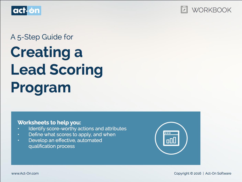 E-book lead scoring