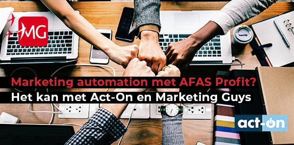 marketing automation afas profit