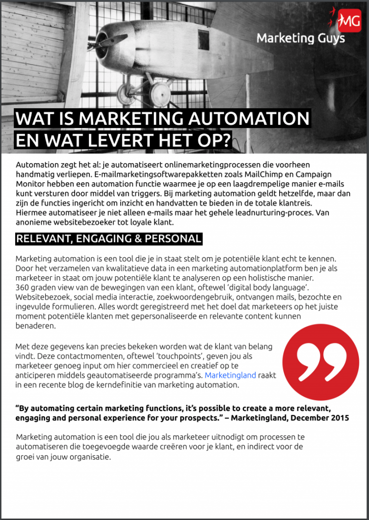 Whitepaper Marketing Automation