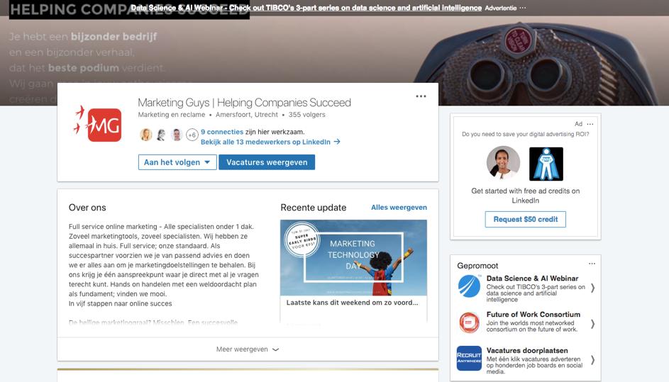 marketing guys linkedin pagina